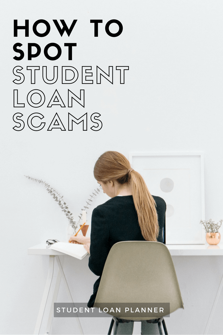 spot a student loan scam