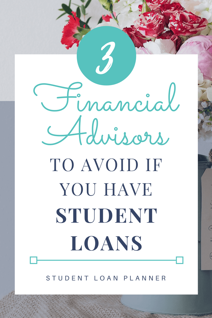 financial advisors give terrible student loan advice