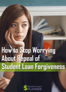 student loan forgiveness repeal