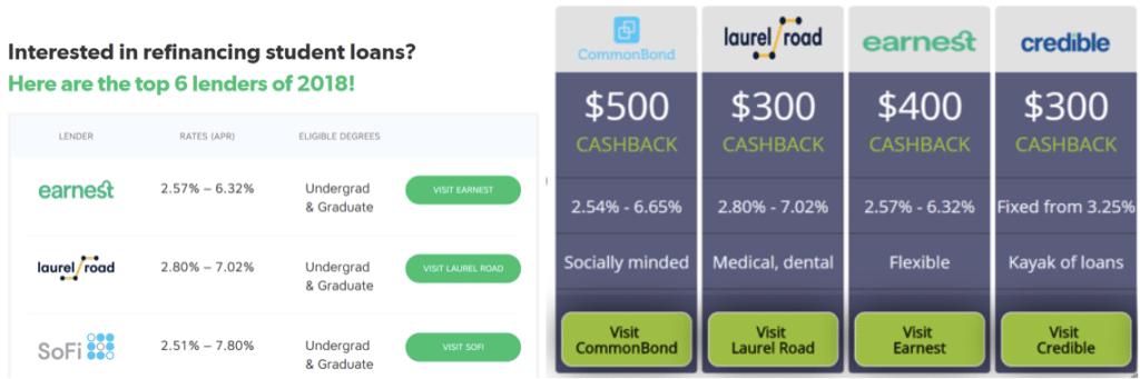 student loan refinancing cash back bonuses travis hornsby