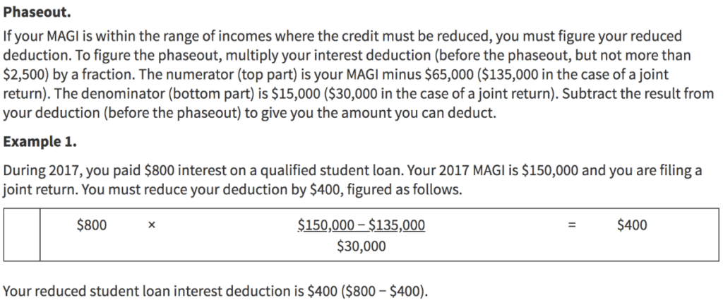 How to Get a Student Loan Tax Deduction student loan planner 1