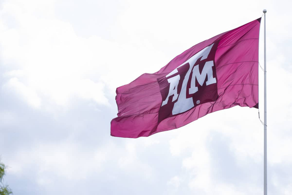 texas-a&m-university-flag-against-sky