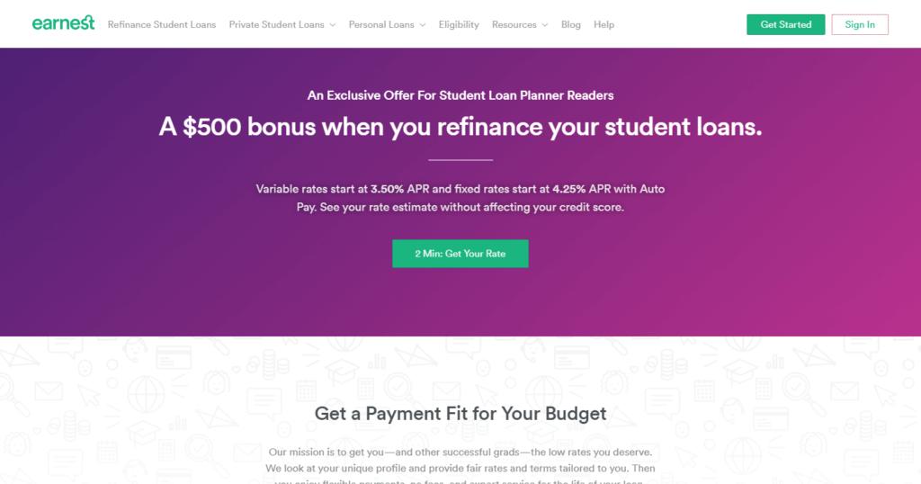 Earnest Student Loan Refinancing