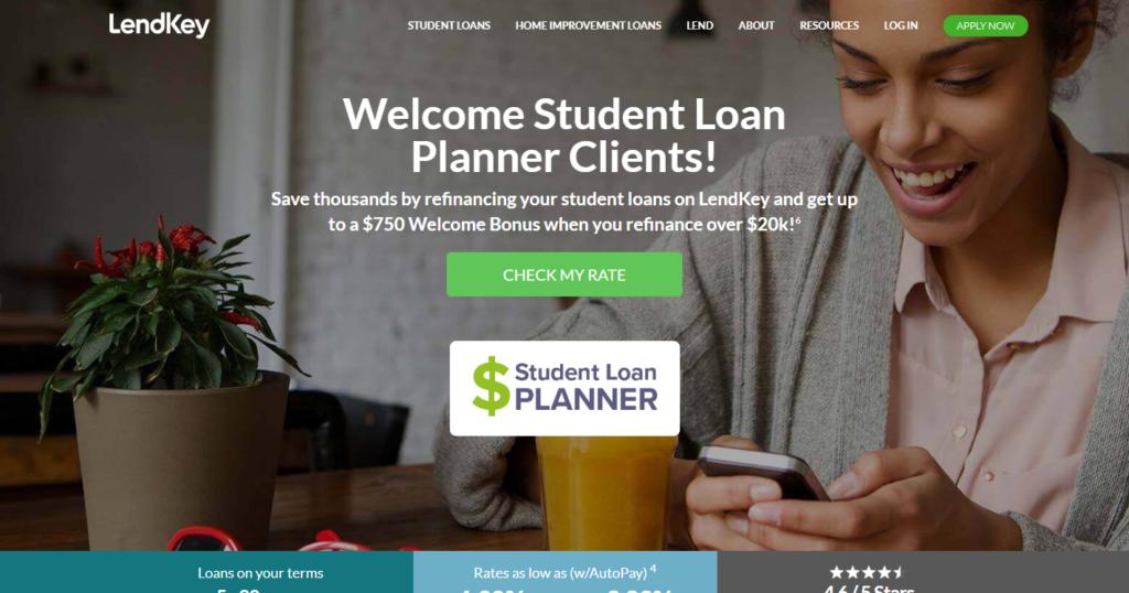 LendKey student loan refinance bank